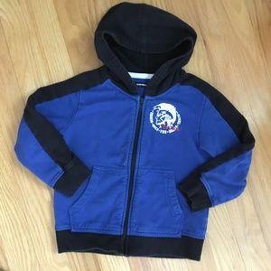 Diesel boys blue/black zip up hoodie, 4T